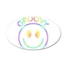 Groovy Pastel Smiley Wall Decal