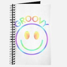 Groovy Pastel Smiley Journal
