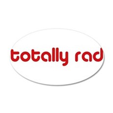 Red Totally Rad Wall Decal