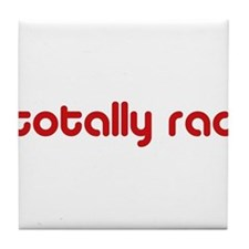 Red Totally Rad Tile Coaster