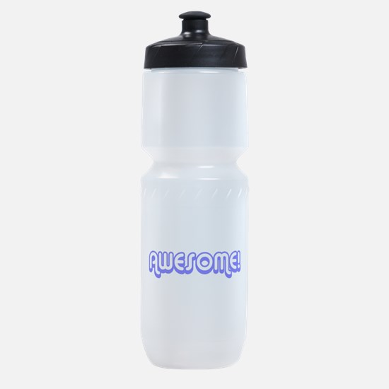 Blue Awesome Middle Sports Bottle
