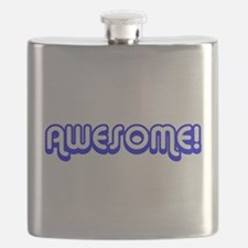 Blue Awesome Middle Flask