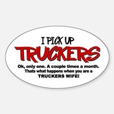 I Pick Up Truckers Decal