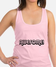 Black Awesome Center Racerback Tank Top