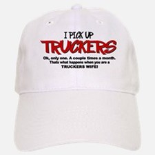 I Pick Up Truckers Baseball Baseball Cap