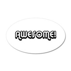 Black Awesome Center Wall Decal
