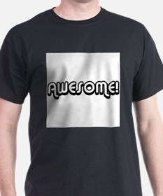 Black Awesome Center T-Shirt