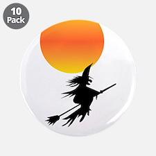 "Flaming Blue Skull Goth Flip Mino 3.5"" Button (10"