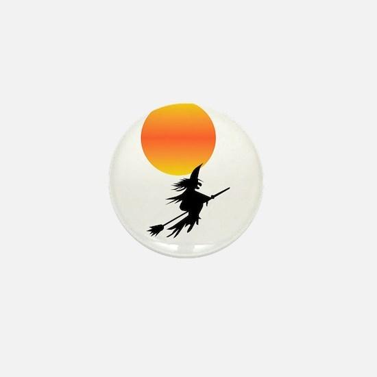 Flaming Blue Skull Goth Flip Mino Mini Button