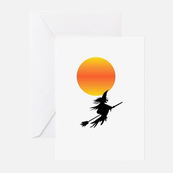 Flaming Blue Skull Goth Flip Mino Greeting Cards (