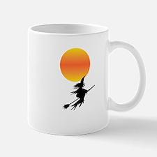 Flaming Blue Skull Goth Flip Mino Mug