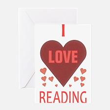I LOVE READING Greeting Card