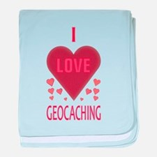 I LOVE GEOCACHING baby blanket