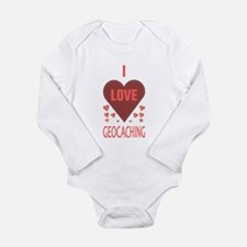 I LOVE GEOCACHING Long Sleeve Infant Bodysuit