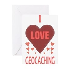I LOVE GEOCACHING Greeting Cards (Pk of 20)