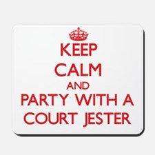Keep Calm and Party With a Court Jester Mousepad
