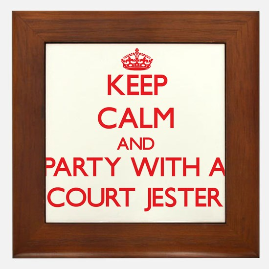 Keep Calm and Party With a Court Jester Framed Til