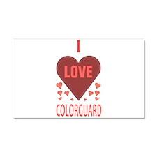 I LOVE COLORGUARD Car Magnet 20 x 12