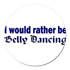 I Love Belly Dancing Round Car Magnet