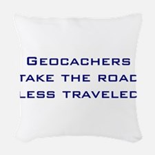 Geocachers take the road less traveled Woven Throw