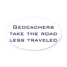 Geocachers take the road less traveled Oval Car Ma