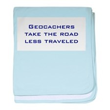 Geocachers take the road less traveled baby blanke