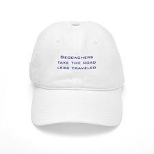 Geocachers take the road less traveled Baseball Cap