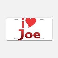 I Heart Joe Aluminum License Plate