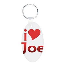 I Heart Joe Aluminum Oval Keychain