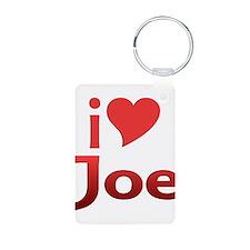 I Heart Joe Aluminum Photo Keychain
