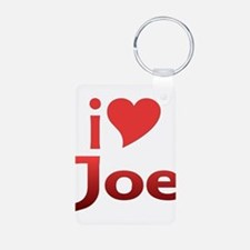 I Heart Joe Aluminum Photo Keychain