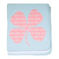 Pink Shamrock Ava baby blanket