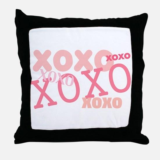 XOXO Hugs and Kisses Throw Pillow