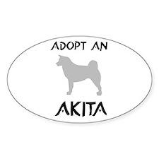 Adopt Akita Oval Decal