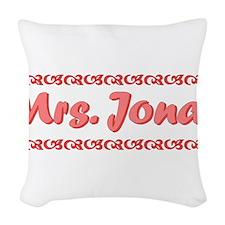 Mrs. Jonas Fan Woven Throw Pillow