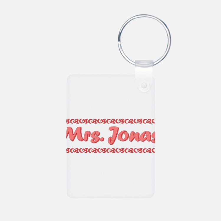Mrs. Jonas Fan Aluminum Photo Keychain