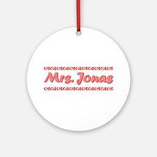 Mrs. Jonas Fan Ornament (Round)