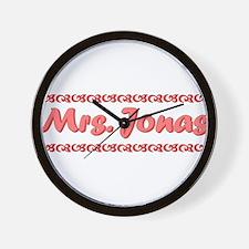 Mrs. Jonas Fan Wall Clock