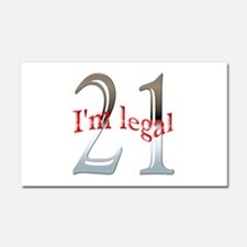 Im Legal and 21 Car Magnet 20 x 12