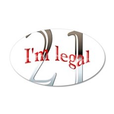 Im Legal and 21 Wall Decal