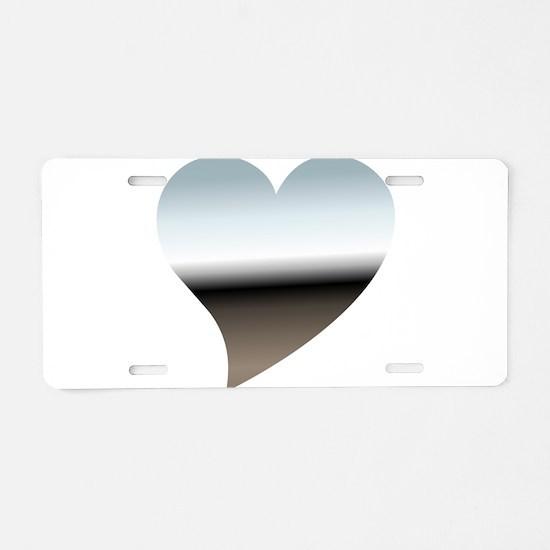 Chrome heart Aluminum License Plate