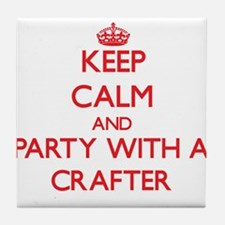 Keep Calm and Party With a Crafter Tile Coaster