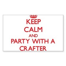 Keep Calm and Party With a Crafter Decal
