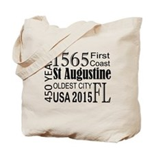 St Augustine 450 years Tote Bag