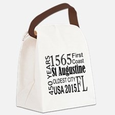 St Augustine 450 years Canvas Lunch Bag