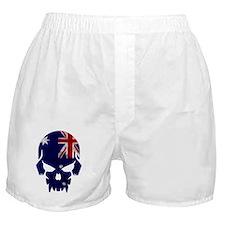 Australian Flag Skull Boxer Shorts