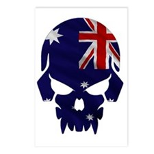 Australian Flag Skull Postcards (Package of 8)