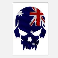Australian Flag Skull Postcards (Package of 8)