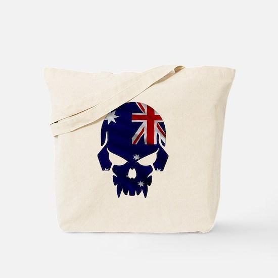 Australian Flag Skull Tote Bag