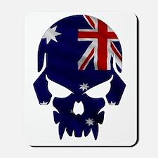 Australian Flag Skull Mousepad